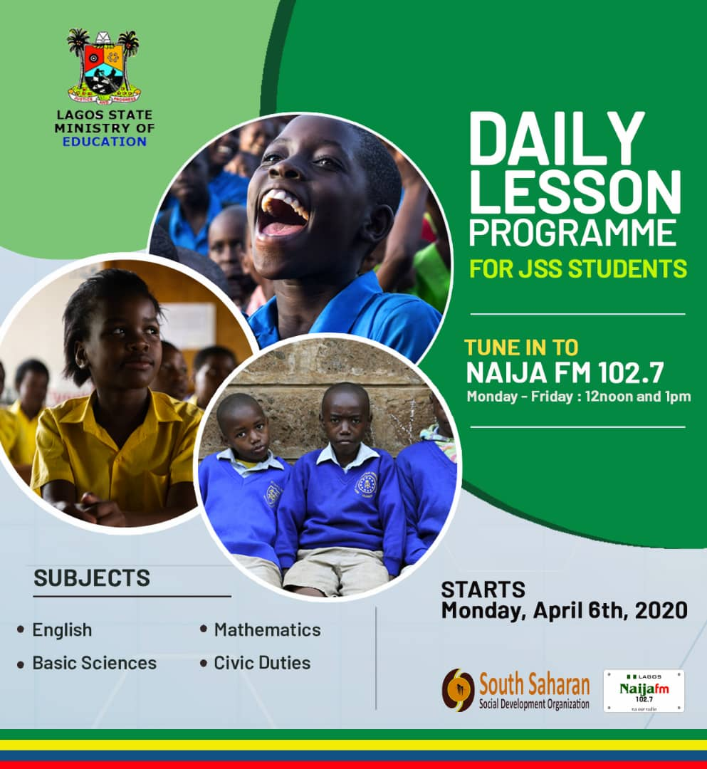 Schools' Closure: Lagos Partners Najia Fm, South Saharan On Free Radio Lessons For Students
