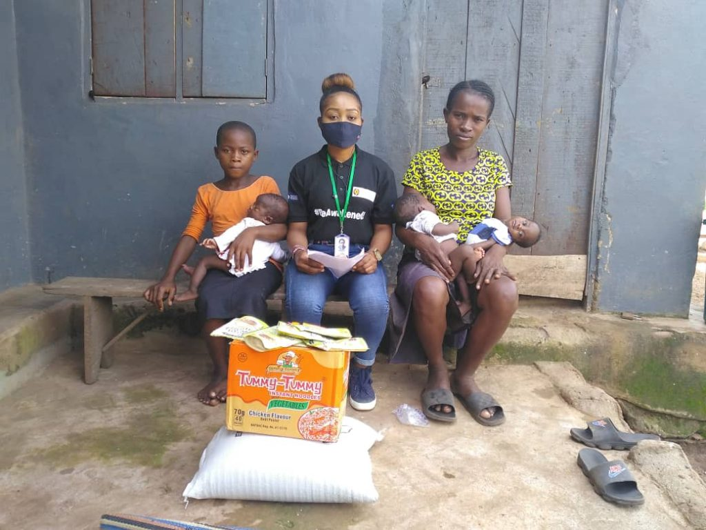 COVID-19: Emotions as NGO give palliatives to homeless triplet-nursing mother, 253 vulnerable
